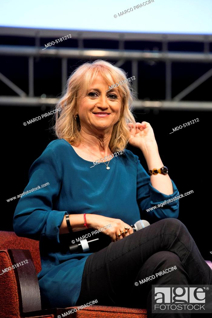 Imagen: Writer and comedy actress Luciana Littizzetto taking part in the event the Women-Ñés time at the Teatro dell'Arte of the Triennale.
