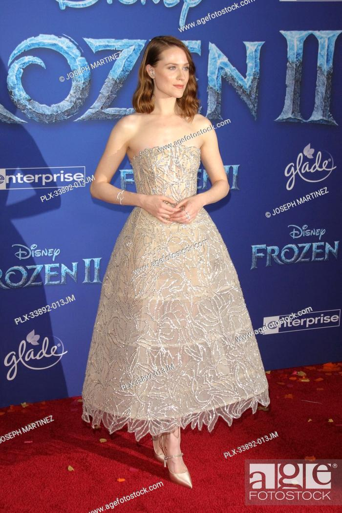 "Stock Photo: Evan Rachel Wood at Disney's """"Frozen II"""" World Premiere held at the Dolby Theatre in Hollywood, CA, November 7, 2019. Photo Credit: Joseph Martinez /."