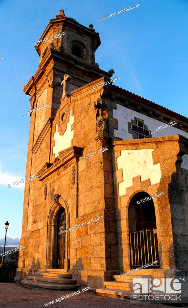 Stock Photo: A Guia chapel. Vigo. Galicia. Spain.