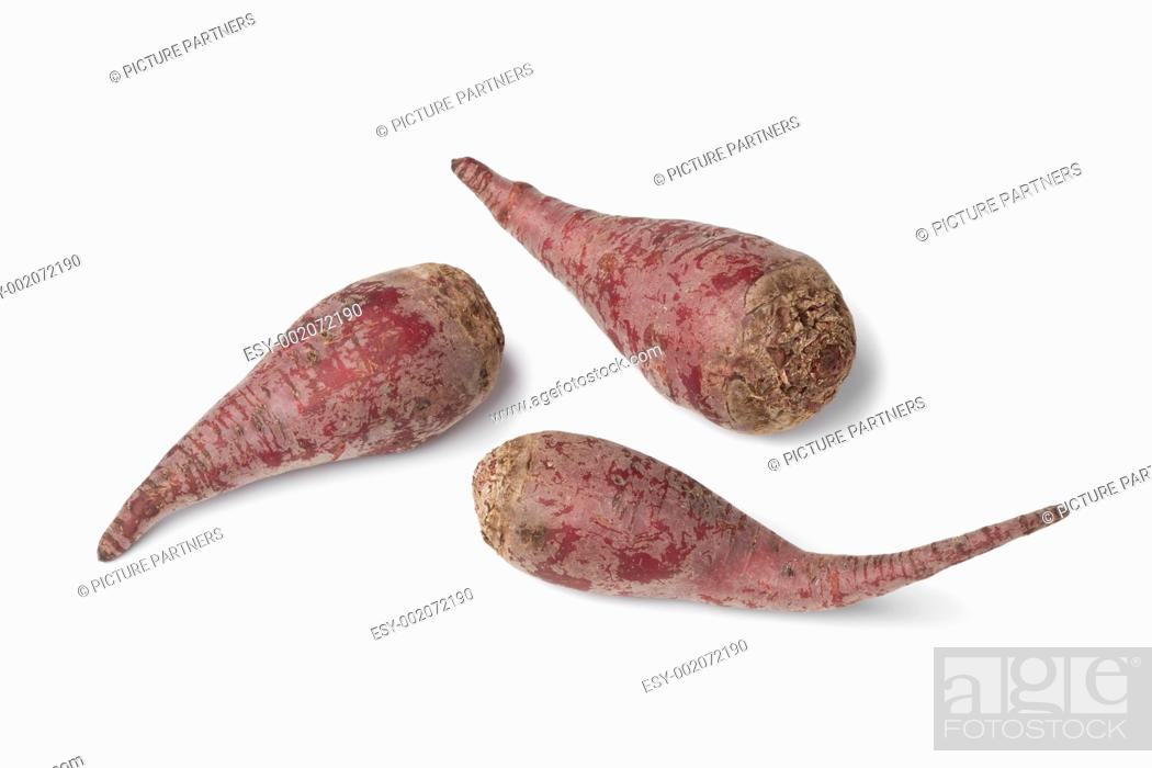 Photo de stock: Organic beets on white background.