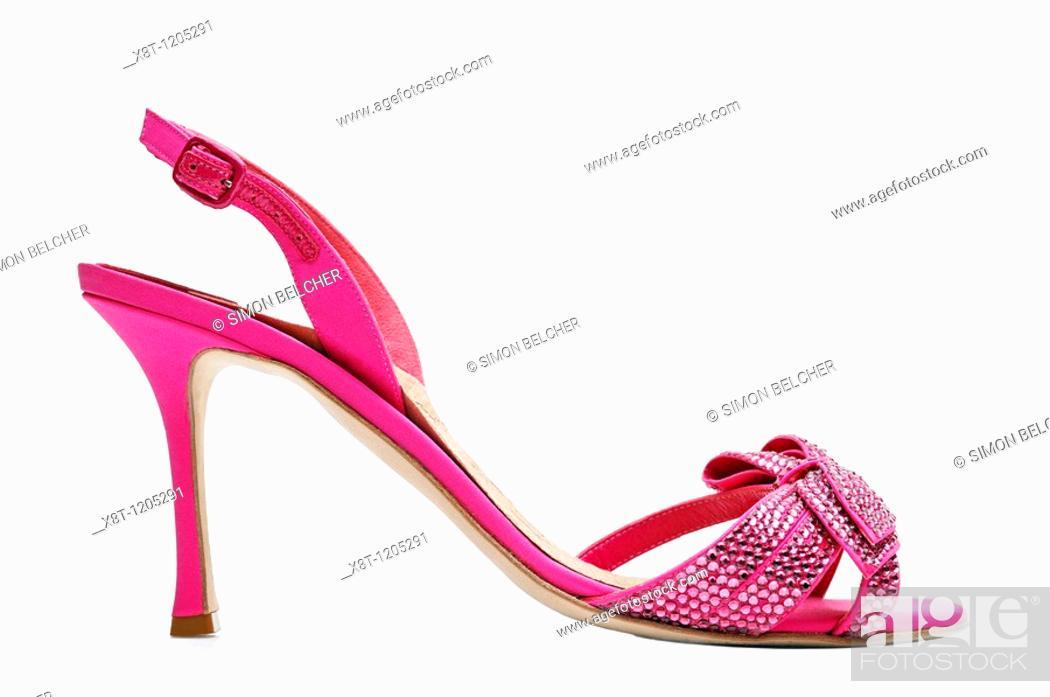 Stock Photo: High Heel Shoe, Side View.