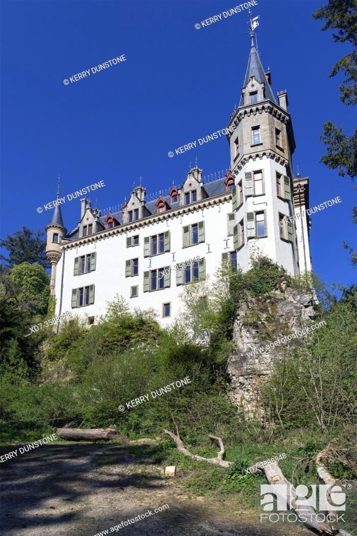 Stock Photo: Europe, Luxembourg, Larochette, Meysembourg Castle.