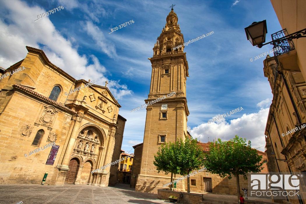 Stock Photo: Cathedral of Santo Domingo de la Calzada, Way of Saint James, Camino de Santiago, Santo Domingo de La Calzada, La Rioja, Spain, Europe.
