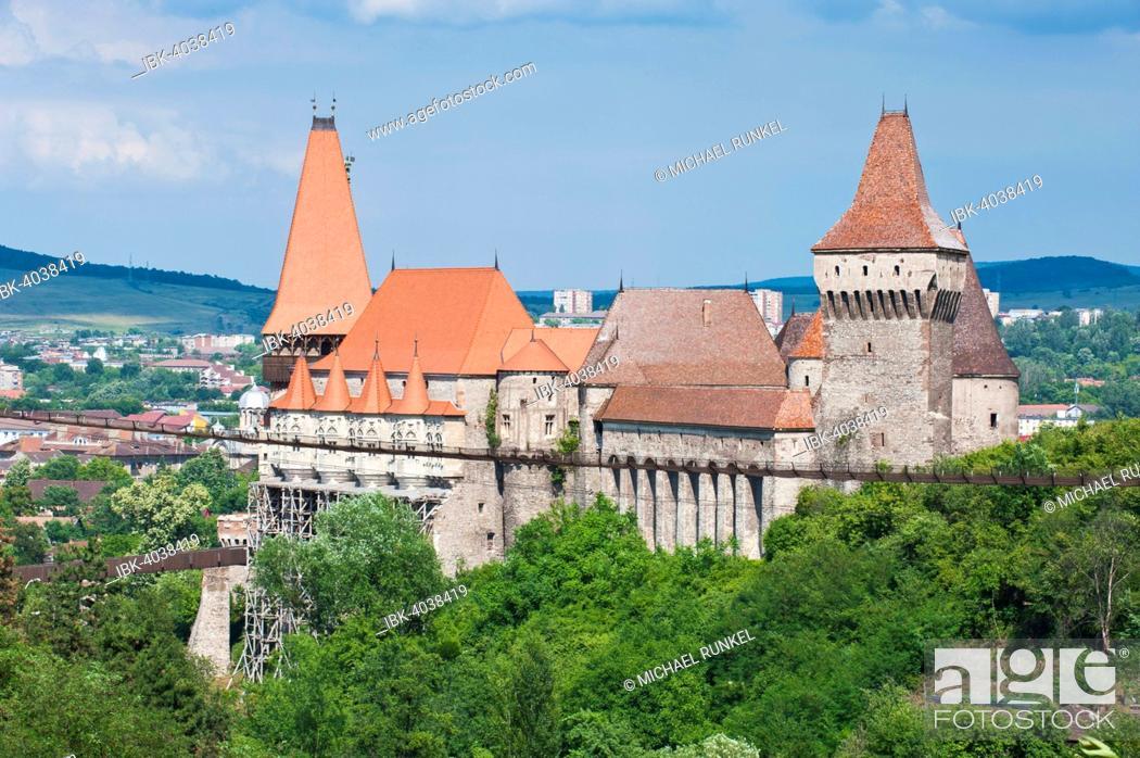 Stock Photo: Hunedoara Castle, Hunedoara, Romania.