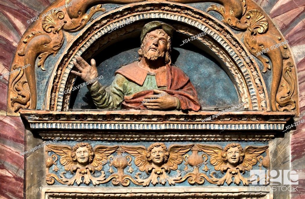 Stock Photo: Portada renacentista - Catedral de Santa Maria Assunta- Aosta – Val d'Aosta – Italia – Europa.