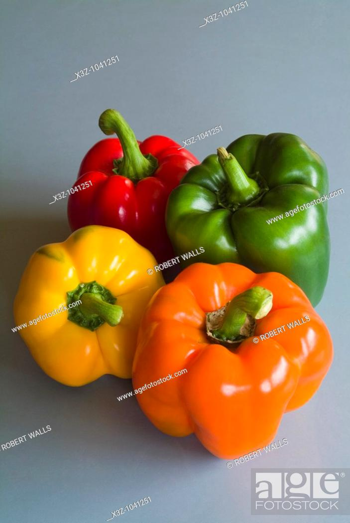 Stock Photo: Multicoloured capsicum.