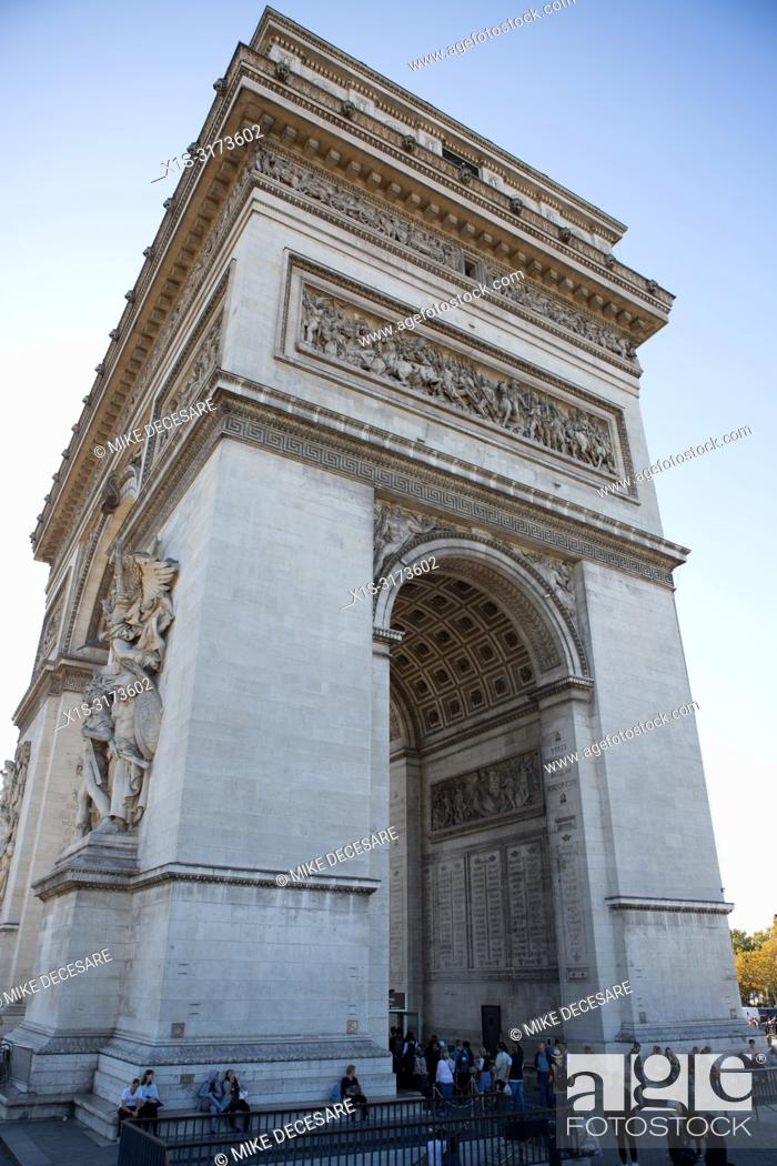 Stock Photo: Arc De Triomphe is a symbol of French Independence and Freedom.
