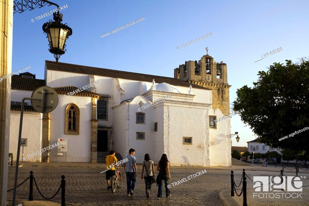 Stock Photo: Portugal Algarve Faro old town center kathedral Largo da Se.