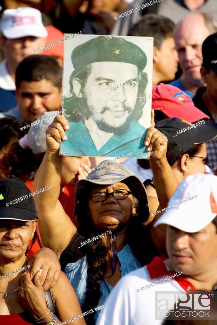 Stock Photo: Huge crowd at May 1st parade Havana - Cuba.