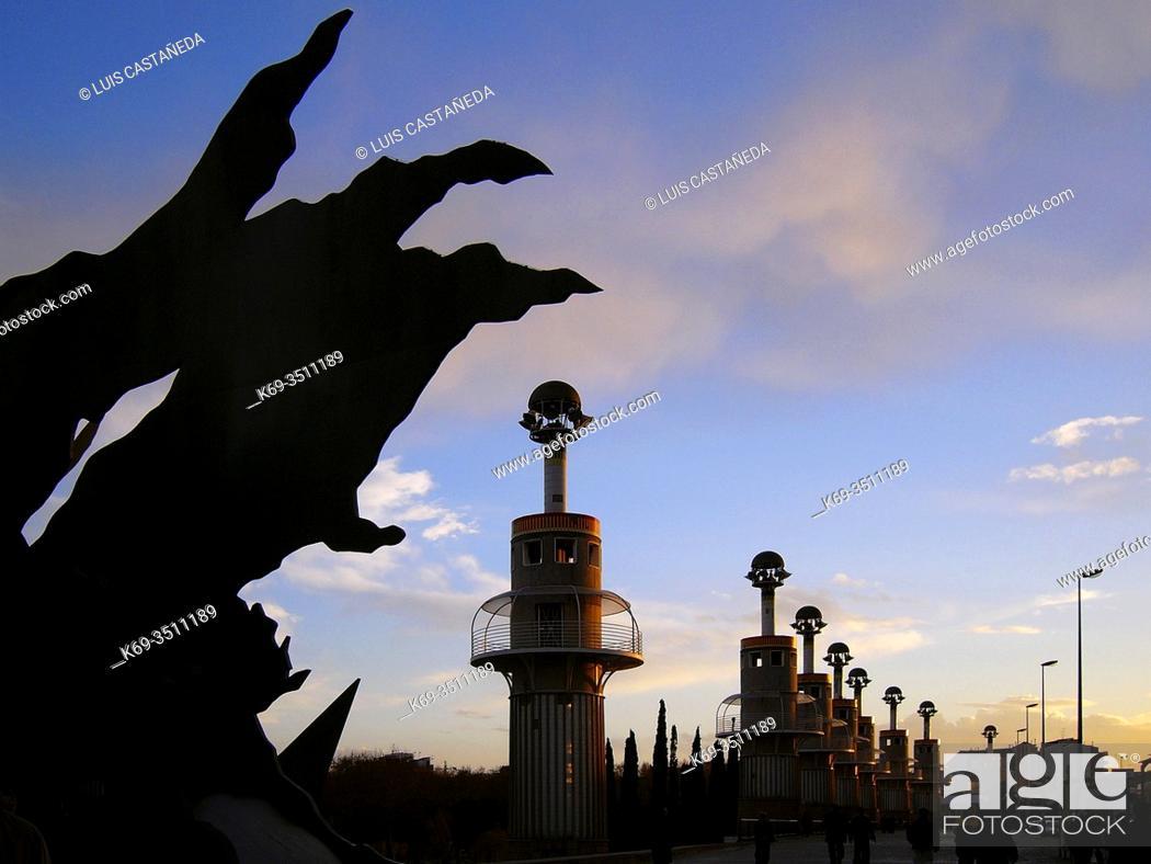 Stock Photo: Parc de la Espanya Industrial. . Barcelona. Catalunya. . Spain.