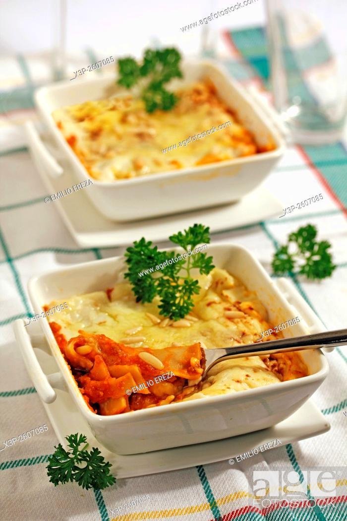 Stock Photo: Seitan lasagna.