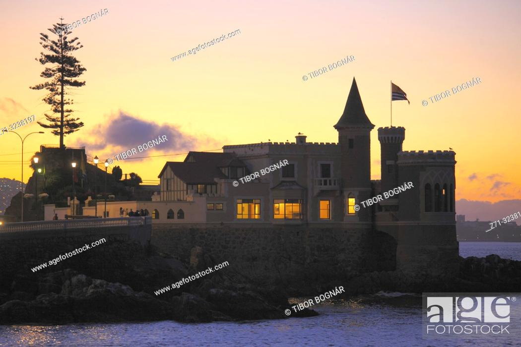 Imagen: Chile, Vina del Mar, Wulff Castle, historic monument,.