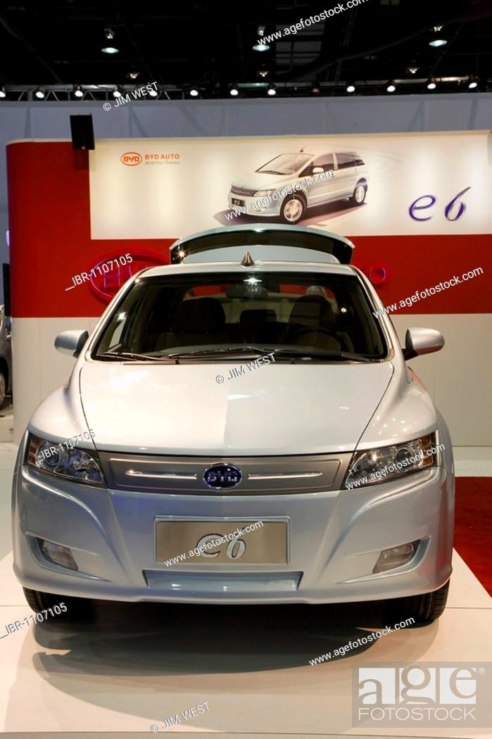 Stock Photo The Chinese Made Byd E6 Electric Car On Display At North