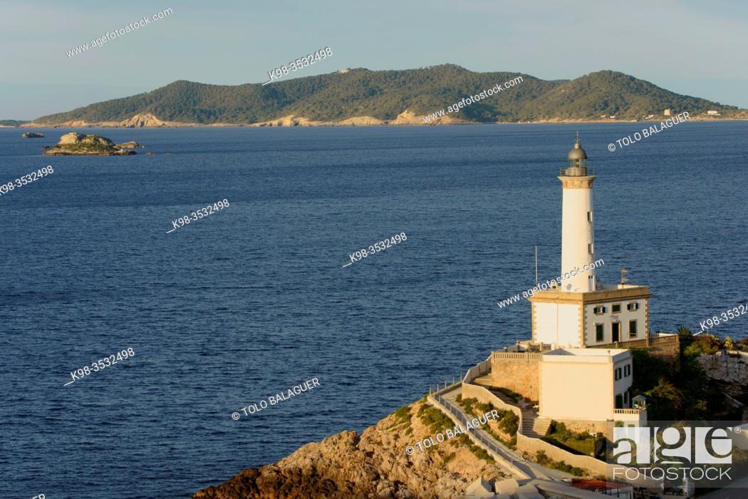 Stock Photo: Faro de Botafoch. Eivissa. Ibiza. Balearic Islands. Spain.