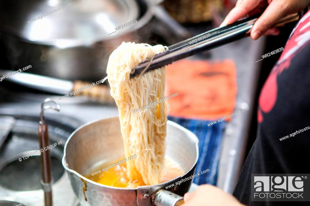 Stock Photo: Chunghsiao Night Market Thousands flavored sesame oil chicken.