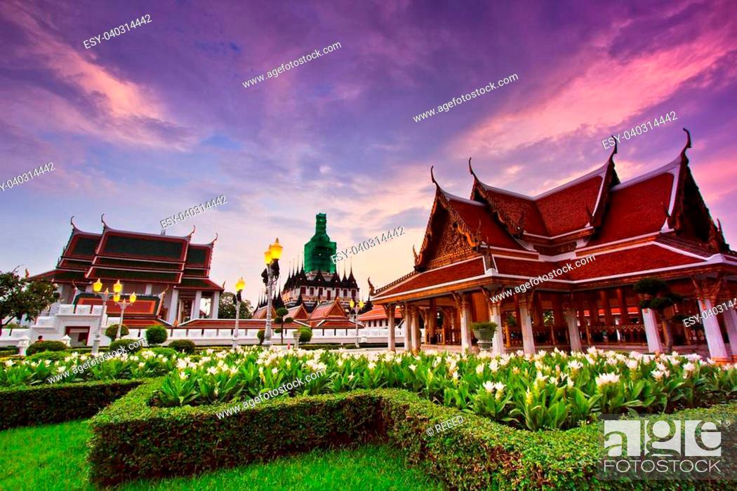 Stock Photo: Wat Ratchanadda Temple in bangkok asia Thailand.