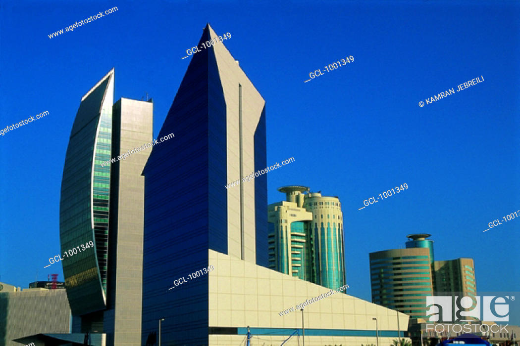 Stock Photo   National Bank Of Dubai And DCCI Building In Dubai, UAE