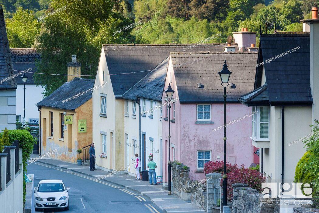 Stock Photo: Ireland, County Wicklow, Avoca, village houses.