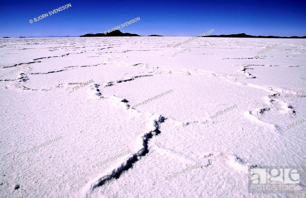 Stock Photo: Salt desert. Salar de Uyuni, Bolivia.