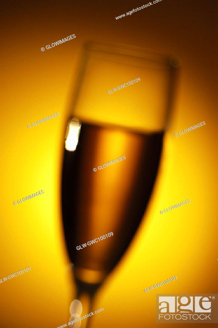 Stock Photo: Close-up of champagne in a champagne flute.