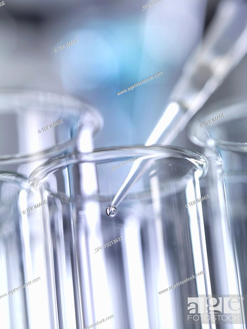 Stock Photo: Pipette and test tube.