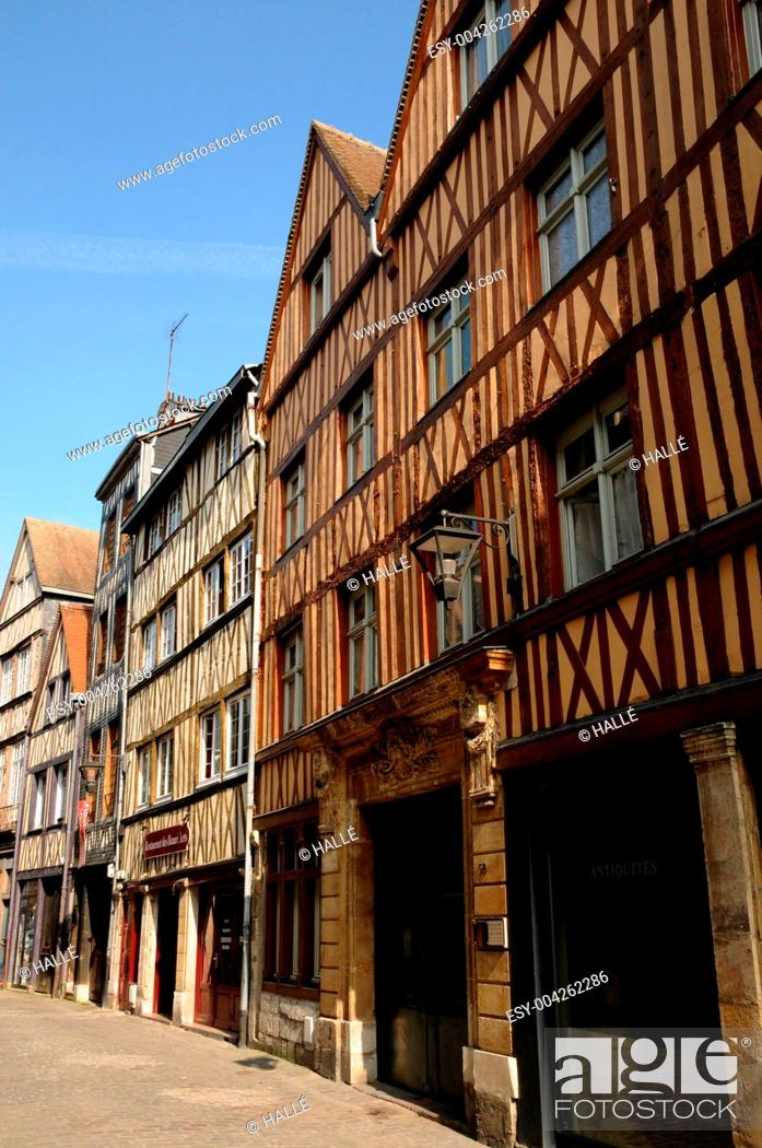 Stock Photo: Normandy, picturesque old historical house in Rouen.