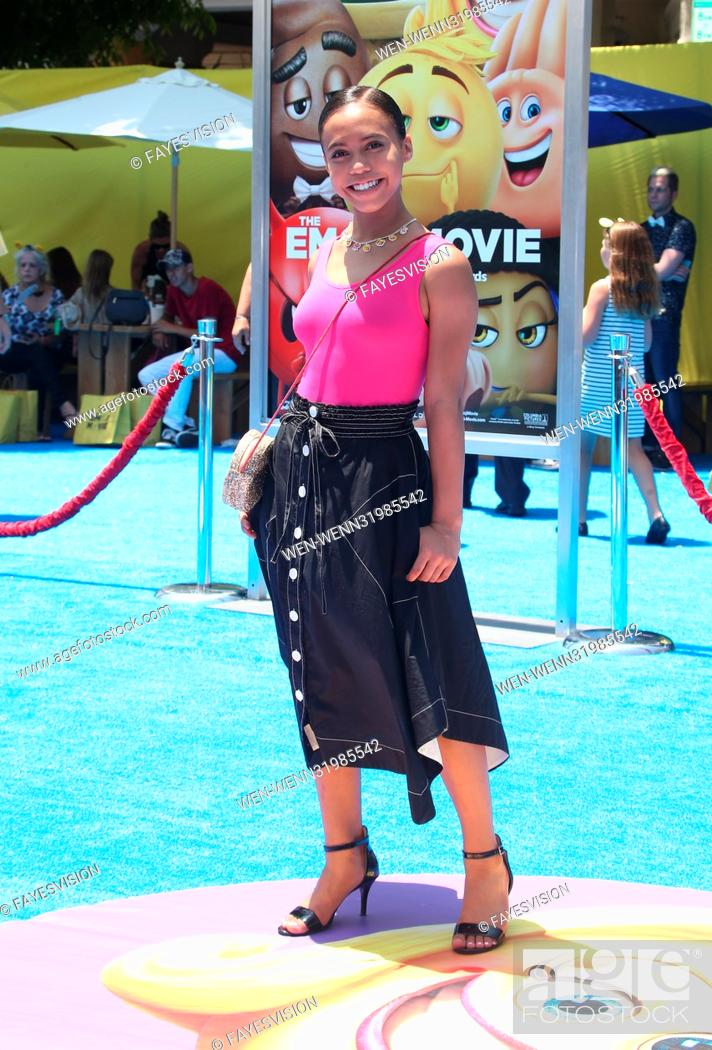 """Stock Photo: The World Premiere of """"THE EMOJI MOVIE"""" Featuring: Asia Monet Ray Where: Los Angeles, California, United States When: 23 Jul 2017 Credit: FayesVision/WENN."""
