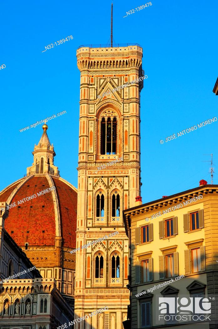 Stock Photo: Florence, Duomo, Cathedral, Santa Maria del Fiore cathedral, Piazza del Duomo, Duomo square, Tuscany, Italy.
