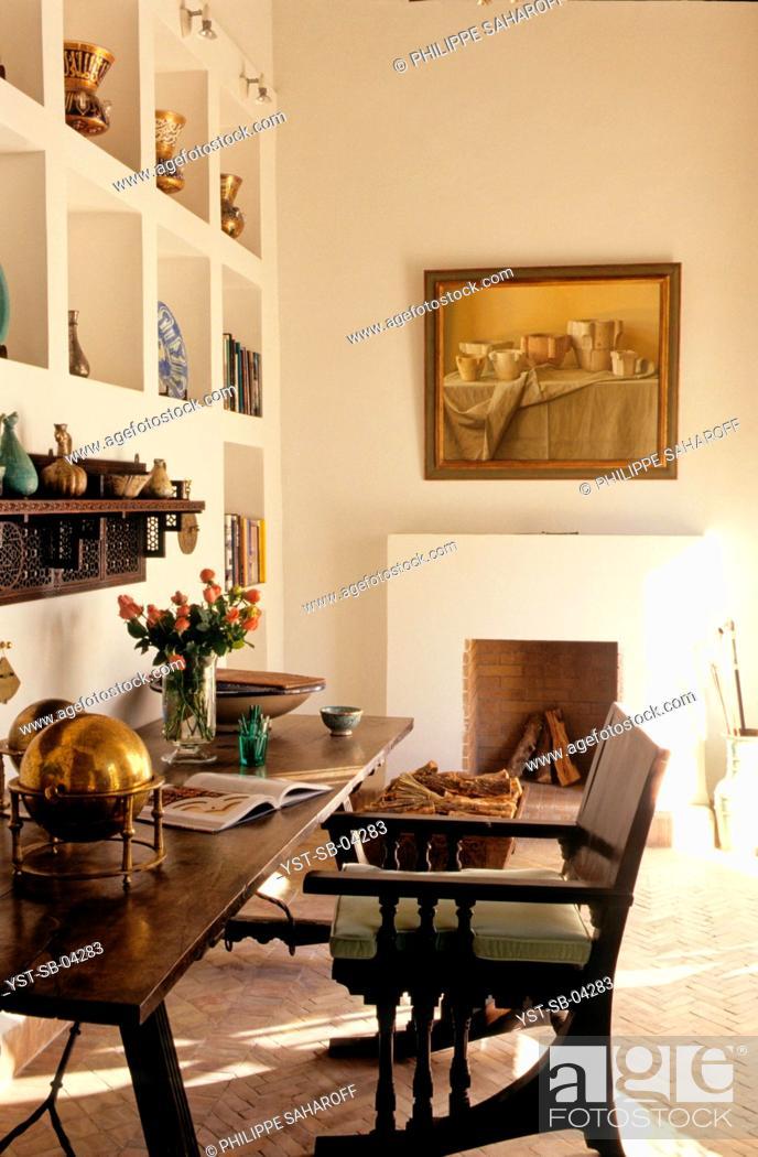 Stock Photo: Office, Marrakech, Morocco, Africa.