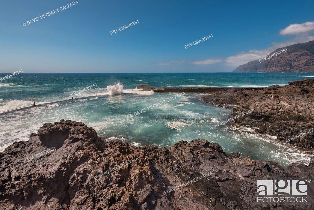Stock Photo: Coastline landscape in Puerto Santiago, Tenerife, Spain.