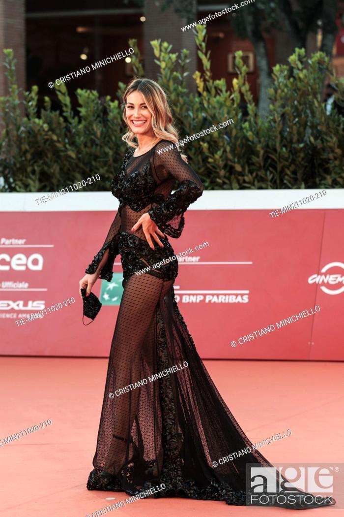 Stock Photo: Valentina Bonariva on Red carpet of film 'Maledetta primavera' at the 15th Rome Film Festival, Rome, ITALY-21-10-2020.