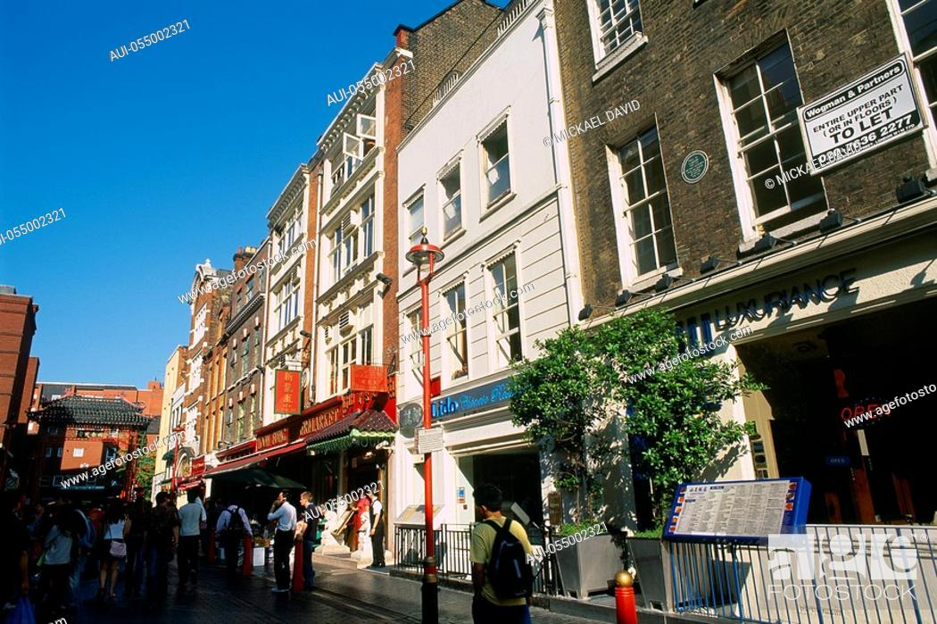 Stock Photo: England - London - Soho district - Chinatown.