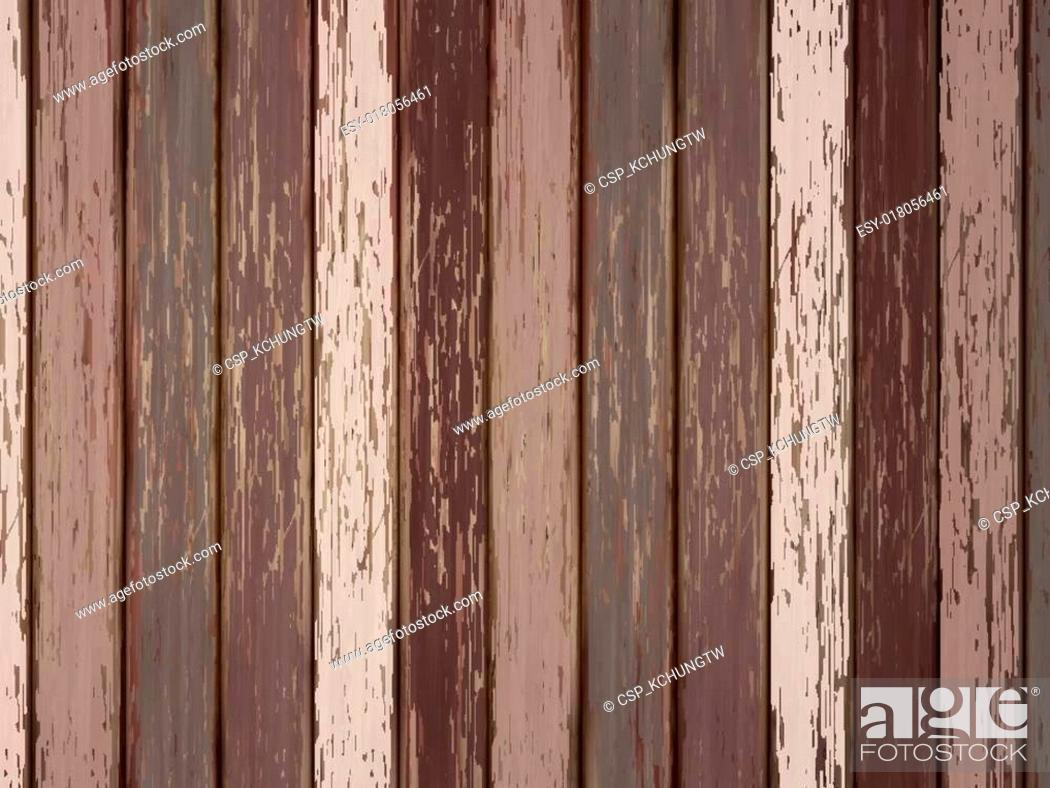 Stock Vector: painted wooden background in brown.
