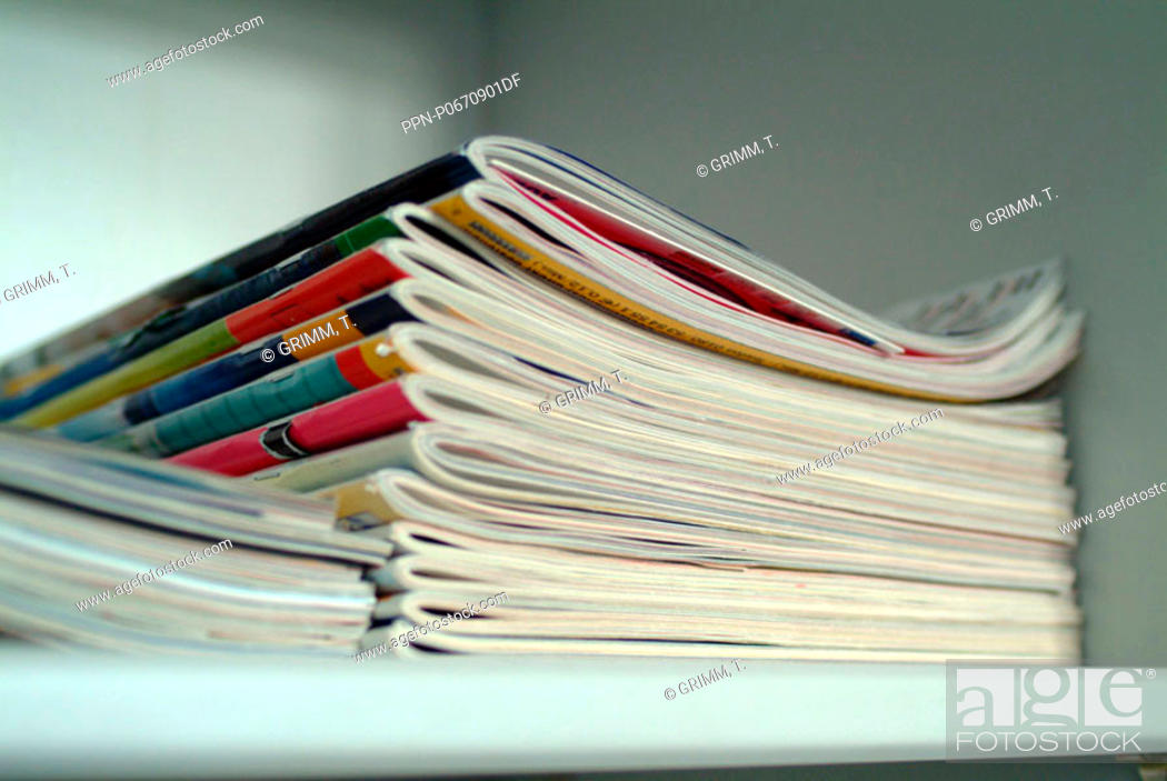 Stock Photo: No People, Indoors, Pile, Order, Paper, Product, Reading, Heap, Printing, Collecting, Magazine, Booklet