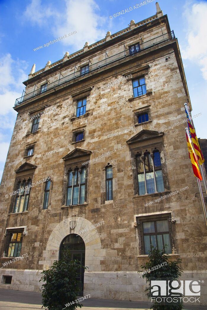Imagen: Palau de la Generalitat. Palace of the Generalitat (seat of the Valencian Autonomous Government). Valencia. Comunidad Valenciana. Spain.