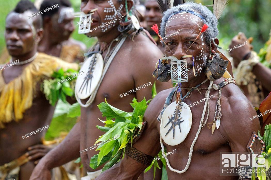 Primitive People Santa Cruz Island Solomon Islands Melanesia