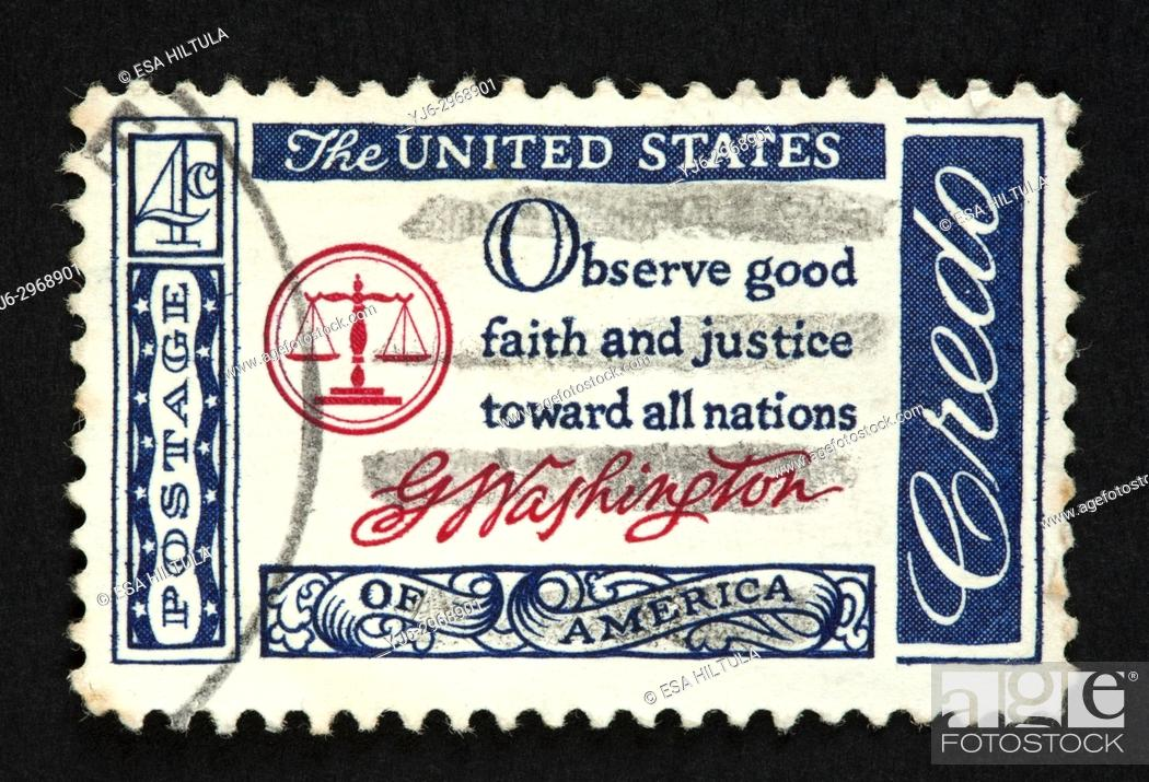 Stock Photo: US postage stamp.