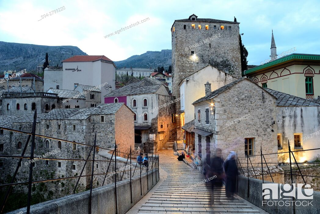"Stock Photo: Old bridge """"Stari Most"""" of Mostar, Bosnia and Herzegovina."