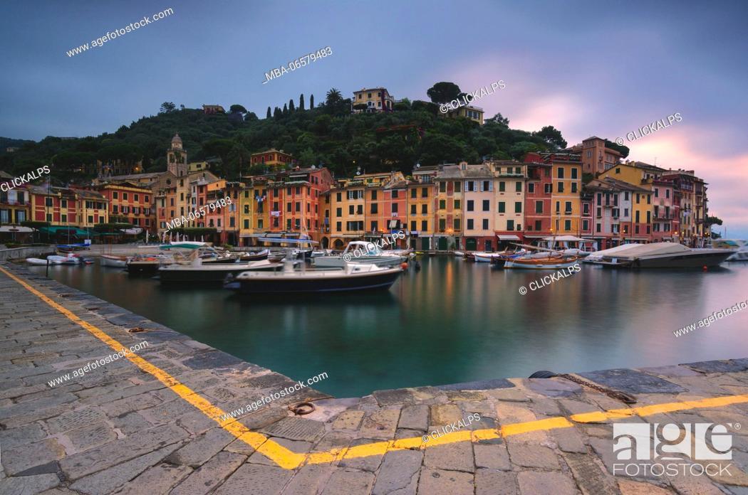 Stock Photo: Europe, Italy, bay of Portofino, Liguria,.