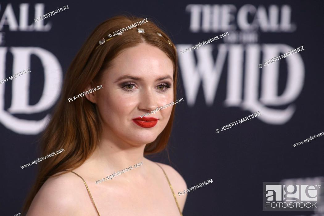 "Stock Photo: Karen Gillan at """"The Call Of The Wild"""" World Premiere held at El Capitan Theatre in Los Angeles, CA, February 13, 2020."