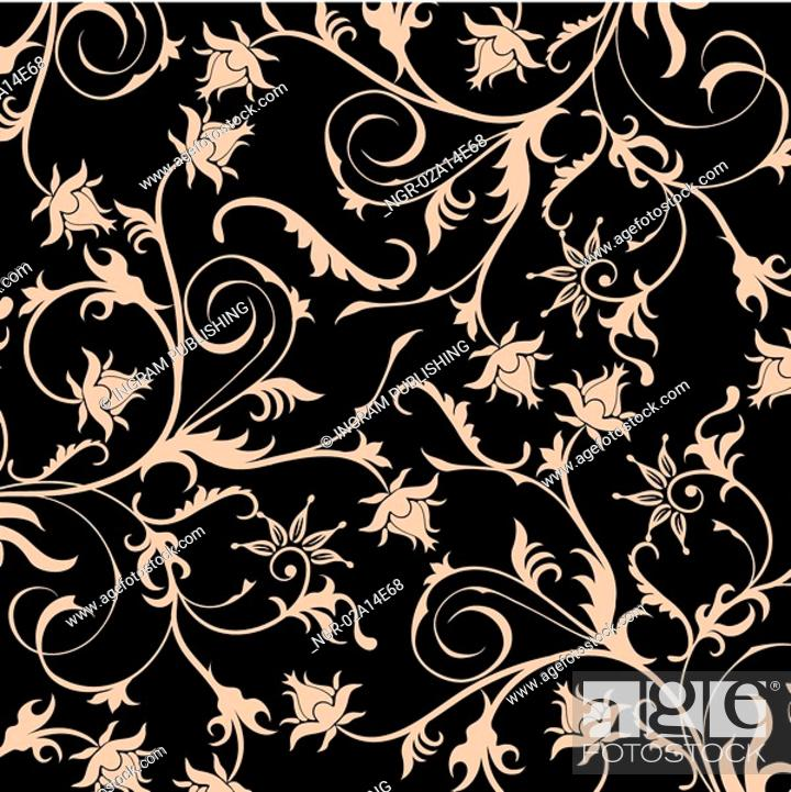 Stock Photo: Floral pattern, vector.