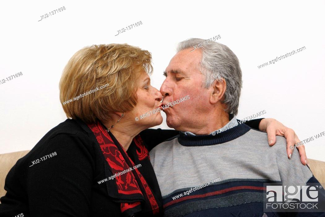 Stock Photo: Old couple.