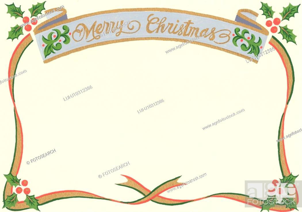 Stock Photo: Christmas Frame.