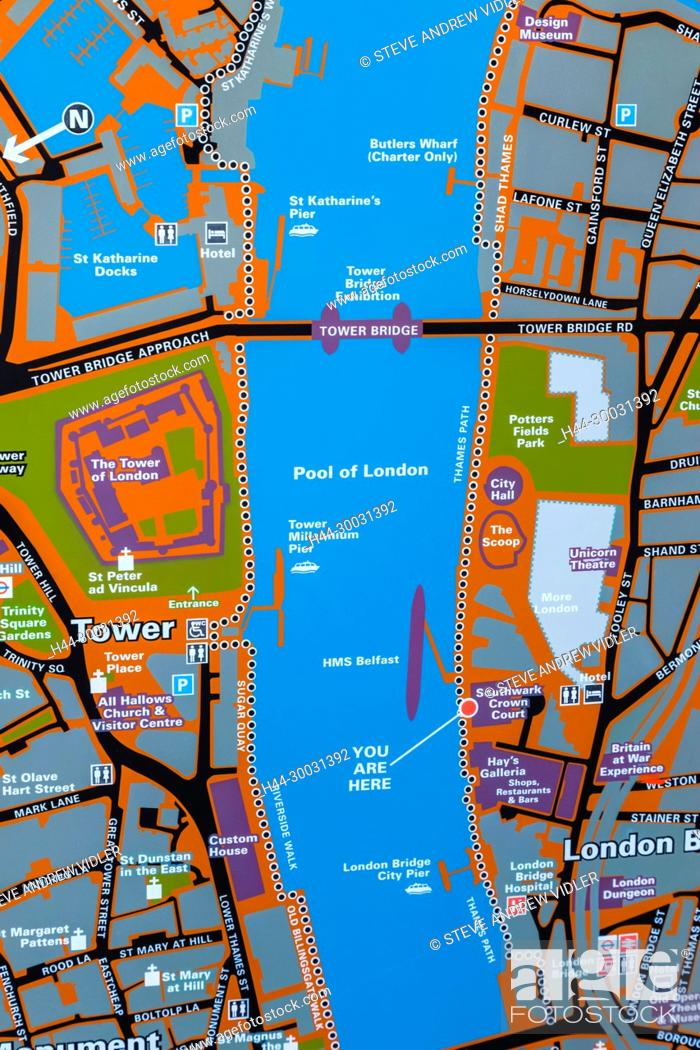 England And London Map.England London City Of London Street Map Of The Tower Of London