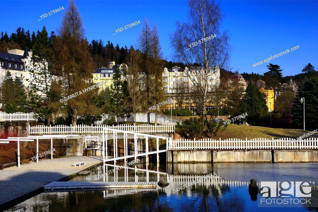 Stock Photo: Spa resort Marianske Lazne - Marienbad, West Bohemia, Czech Republic, Europe.