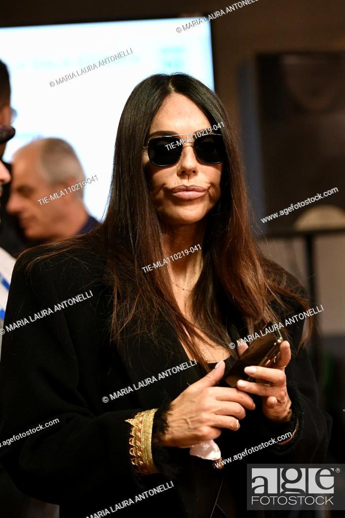 Imagen: Rossella Barattolo wife of Claudio Baglioni during the final press conference of 69th Sanremo Music Festival, Sanremo, ITALY- 10-02-2019.