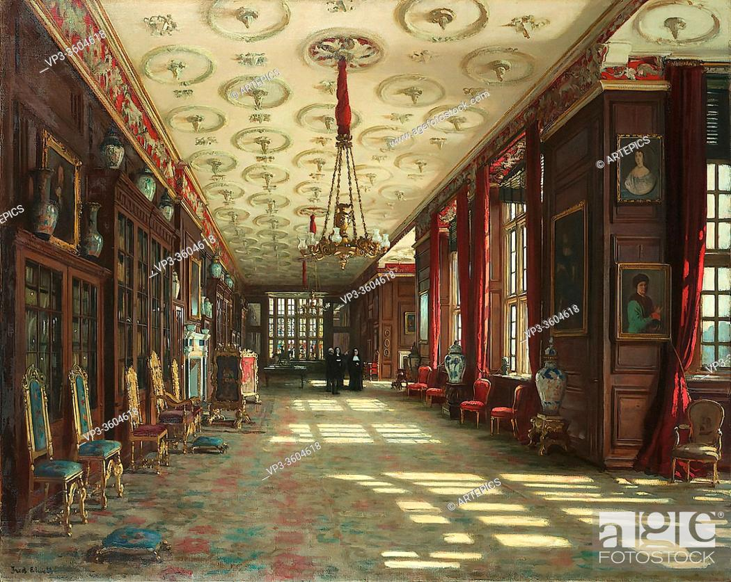 Stock Photo: Elwell Frederick William - Dunsley Abbey - British School - 19th Century.