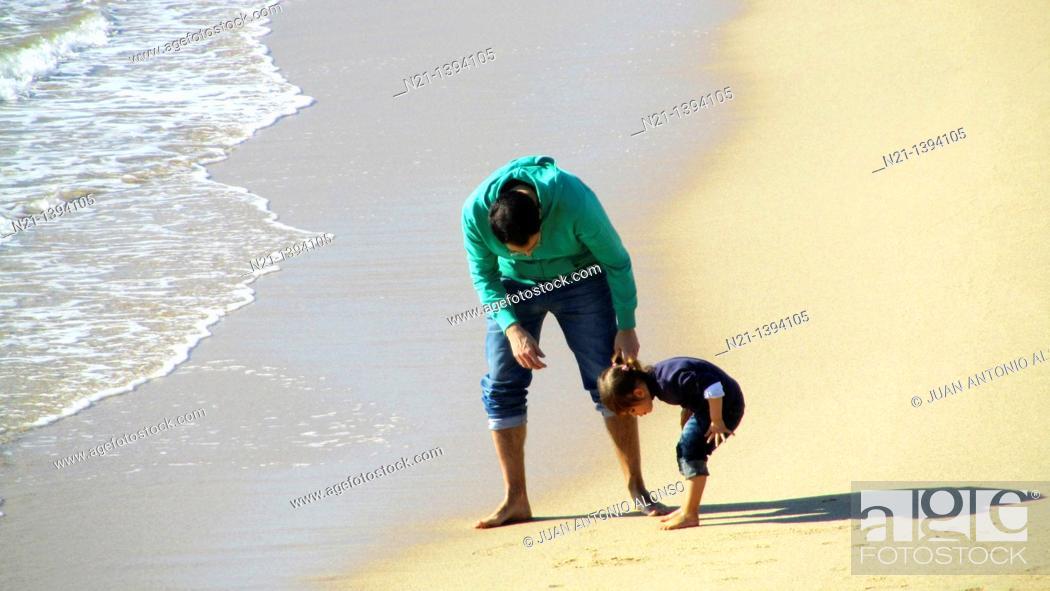 Stock Photo: At the beach. Sant Andreu de Llavaneres, Barcelona, Catalonia, Spain, Europe.