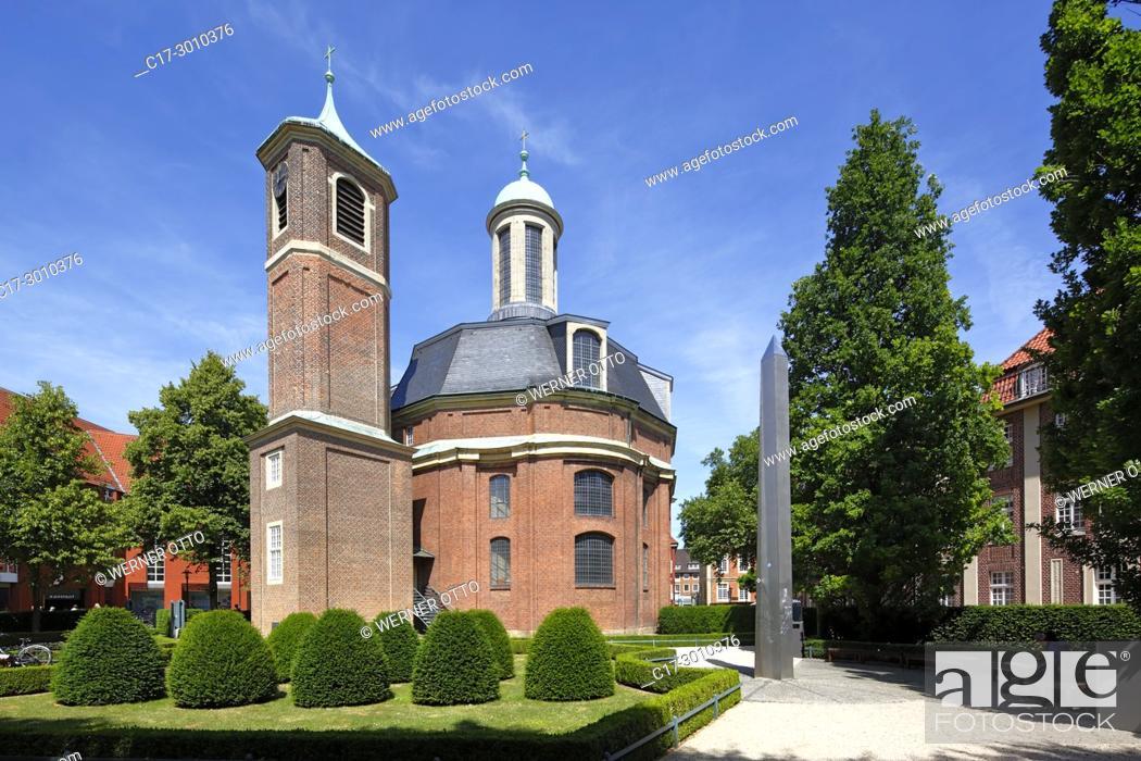Imagen: Muenster (Westfalen), D-Muenster, Westphalia, Muensterland, North Rhine-Westphalia, NRW, Clemens Church by Johann Conrad Schlaun.