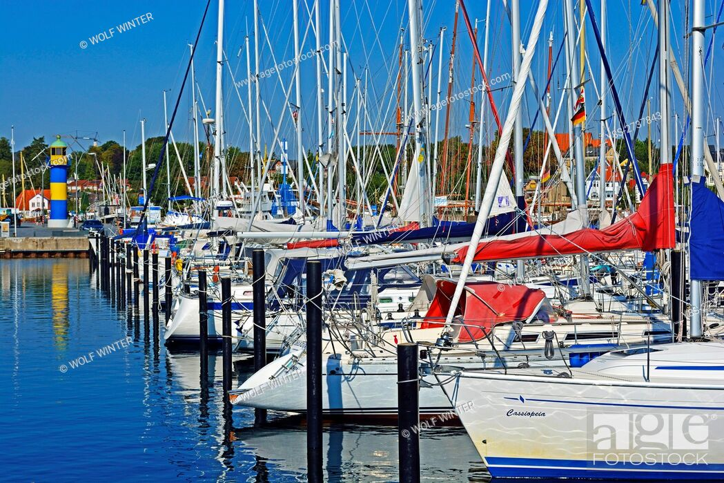 Stock Photo: At the port of Eckernfoerde, Schleswig-Holstein, Germany.